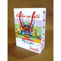 Bolsas Cumple Personalizadas Mickey, Minnie, Disney Y Masx10