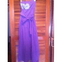 Vestido Roxo Com Detalhe De Flor - Tomara Que Caia - Tam P