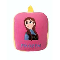 Mochila Infantil De Peluche Bordada Frozen Anna
