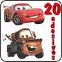 20 Adesivos Carros Disney Alta Resolução Relampago Mcqueen