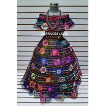Disfraz Vestido Chiapaneca 5 Olanes Traje Tipico Chiapas