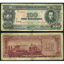 Bolivia Billete De 100 Bolivianos Año 1945 Buen Estado