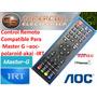 Control Remoto Smartv 3d Compatible Con Master G - Aoc -akay