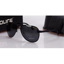 Óculos De Sol Masculino Aviador Polarizado Police 100% Uva-b