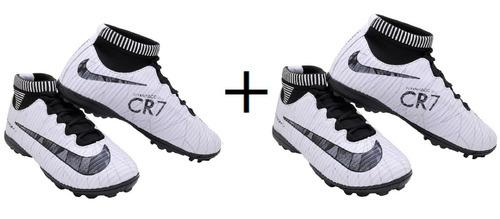 49dece0a4c Chuteira Nike Cr7 Cravinho Cano Baixo Infantil Frete Grátis - R  201 ...