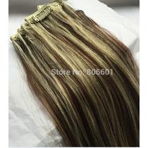 Mega Hair Cabelo 100% Humano 7 Peças 50cm Tic Tac