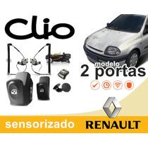 Kit Vidro Elétrico Sensorizado Clio 2 Portas 2001 + Travas