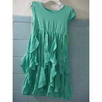 Vestido Verde Con Olanes Para Niña Talla 3 Años Lindo Lbf