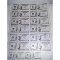 Laminas Para Tortas Billetes Dólares. Fotos