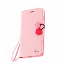 Case Funda Billetera Cherry Rosa Iphone 6 6s Mica De Regalo