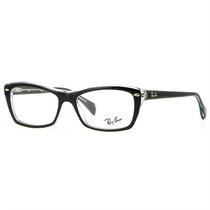 Armação De Óculos De Grau Ray Ban Masculino Acetato Preto