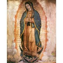 Lienzo En Tela. La Virgen De Guadalupe. 50 X 70 Cm. Gratis..