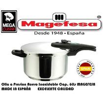 Olla Cacerola Presion Ace/inox Magefesa C.6lts Made España