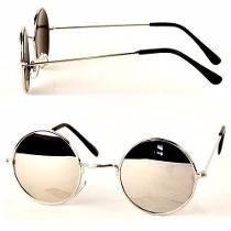 3bc41e11e Óculos De Sol Estilo John Lennon Prata Espelhado Prata - R$ 29,90 em ...