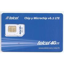 Lote 50 Chips Virgen Nano Micro Telcel 4lte R/7