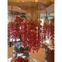 Lampara Candelabro Cristal Acrilico Rojo Y Espejos L140525