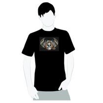 Camisa 100% Algodão - Harley Davidson - Caveira Pistão -
