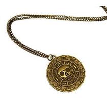 Collar Unisex Oro Azteca Piratas Del Caribe Jack Sparrow