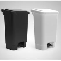 Cesta De Lixo Lixeira Com Pedal 100 Litros C/ Suporte Branca