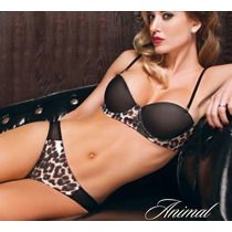 Conjunto Strapless Colaless Animal Art 5329 Cocot Corseteria