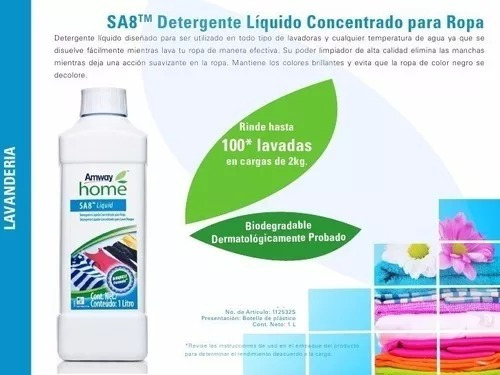 6ec7ad720 Sa8 Detergente Liquido Para Ropa Amway (oferton) -   500