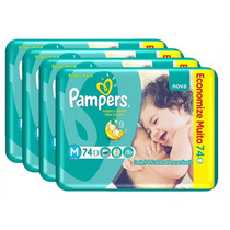 Fralda Pampers Total Confort Super M 296 Tiras