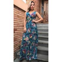 Vestido Feminino Longo Regata Estampas Lindas Verão 2017