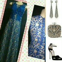 Vestidos De Festa Azul Royal