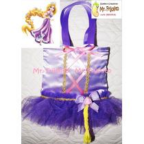 Bolsa-dulcero-rapunzel Con Trenza-principe Flynn- Bella