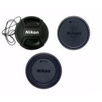 Kit 3 Pc Tampa Nikon 18-55mm Af-s Ø52 D90 D3000 D3100 D3200