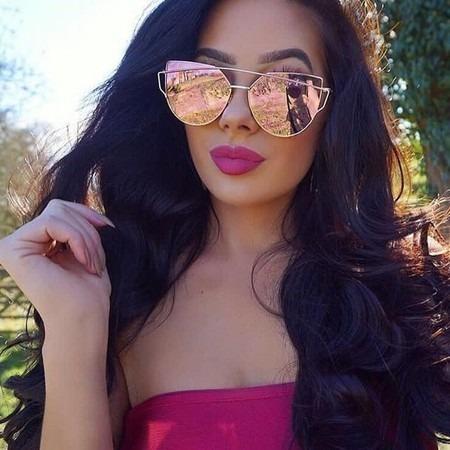 d7636788f1556 Óculos Feminino De Sol Espelhado Da Moda Estiloso Promoção - R  39,07 em  Mercado Livre