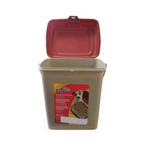 Container Plástico Marrom Para Armazenar Ração 2kg - Lumare