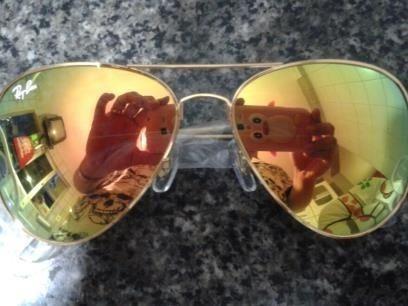 1af6cb05d ray ban lente espelhada dourada