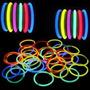 50 Pulseras Fluor Luminosas Barras Led Fluor Fiestaclub
