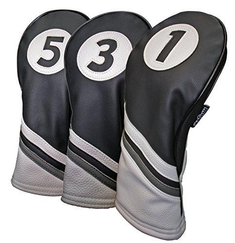 7c4f4ec587ac4 Funda Para Cabeza De Palo De Golf Color Blanco Y Negro Pie -   2