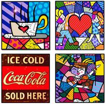 Placas Decorativas Romero Britto, Retrô, Vintage, Bebidas D+
