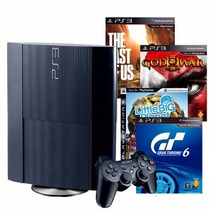 Sony Playstation 3 500gb C Last Of Us Gow Ascension Gt6 Lbp3
