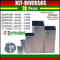 Kit 16 Moldes ( Formas Para Velas Artesanais ) +2 Brindes