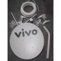 Kit 01 Antena Banda Ku 60cm+02 Conectores+20 Mts Cabo+01lnb