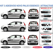 Acessorio Adesivo Novo Palio Atractive Essence Kit