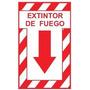 Señalización Extintor De Fuego 25x30 Cm