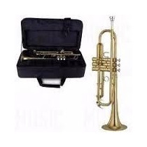 Trompeta Dorada Con Estuche Ofertas Oro Amarillo