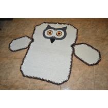 Tapete Corujão Em Crochê - Gigante