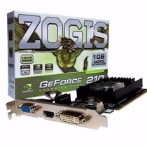 Placa De Vídeo Zogis Geforce Gt210 1gb Ddr3 64b Vga/hdmi/dv