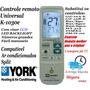 Controle Remoto Universal Ar-condicionado Split York