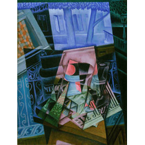 Lienzo Tela Naturaleza Muerta Juan Gris Cubismo 1921 66 X 50