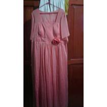 Vestido De Noche Color Coral Mujer