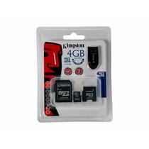 Kingston Memoria Flash Micro Sd 4 Gb , Kit Mbly/4gb