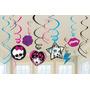 Decoración Del Remolino De Monster High 12ct