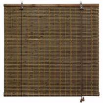 Cortina Persiana Rolo De Bambu Zebrano 1,20 L X 2,20 A